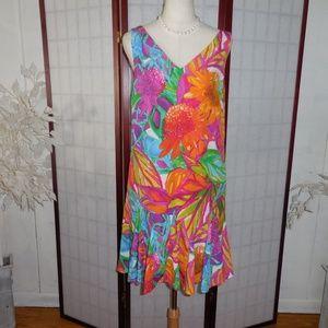 Ralph Lauren tropical dress sz 10p